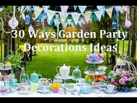 1 30 ways garden party design decorations ideas. Black Bedroom Furniture Sets. Home Design Ideas